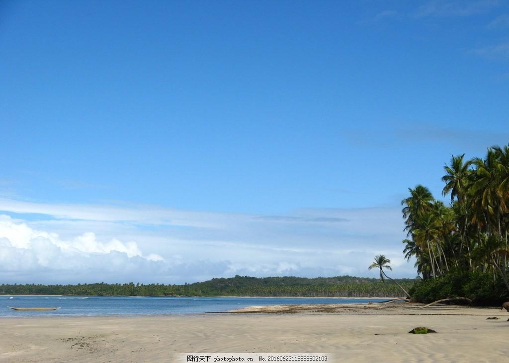 沙滩 海边 热带 蓝天 晴天 摄影 自然景观 自然风景