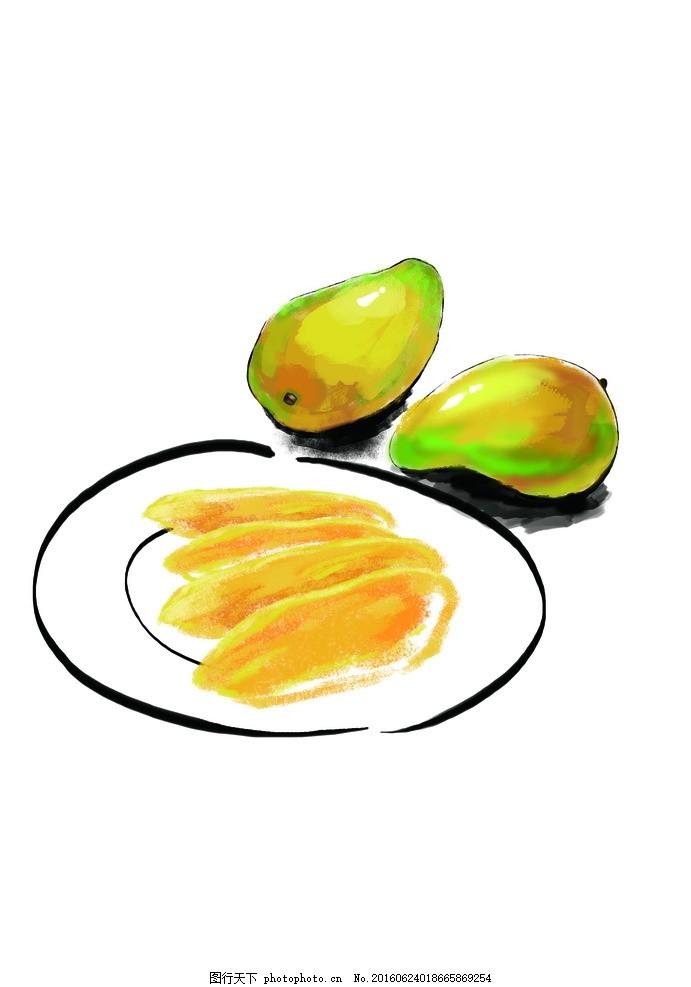 原创手绘芒果