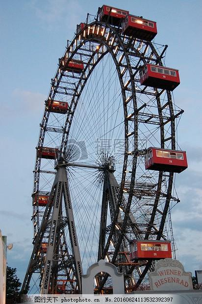 游乐园的摩天轮