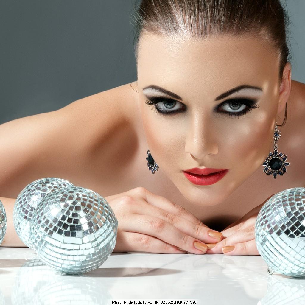 欧美浓妆美女 欧美浓妆美女图片素材下载 模特 写真 妆容 美妆