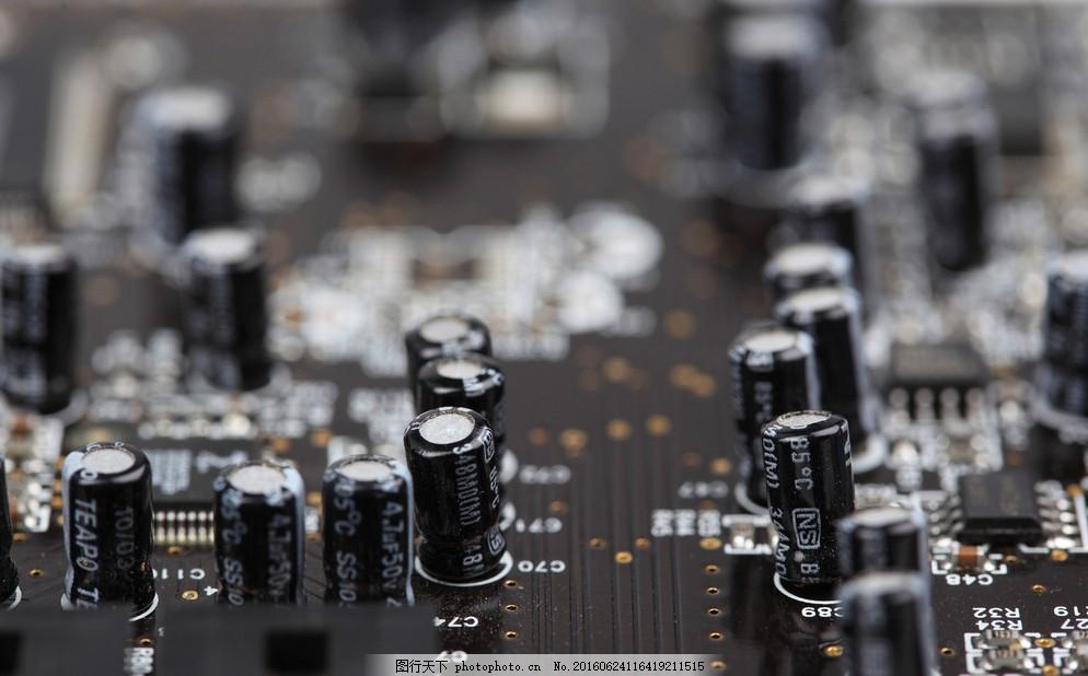 电路板 电子元件 工业生产 现代科技 摄影
