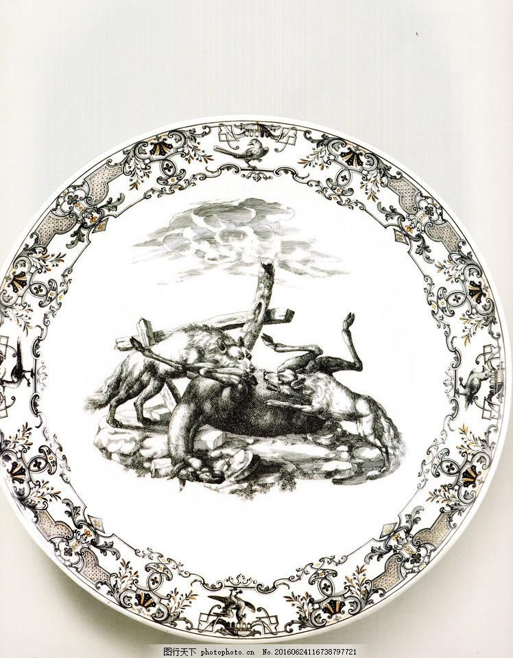 餐具图案 盘子 餐具花纹 花纹设计 动物图案 图案设计 陶瓷盘子 瓷盘