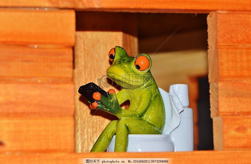 厕所中的青蛙 动物 可爱 有趣 马桶 技术     红色 jpg