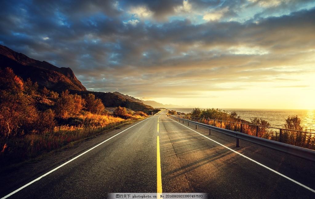 秦皇岛公路 唯美 风景 风光 旅行 夕阳 落日 日落 摄影 国内旅游
