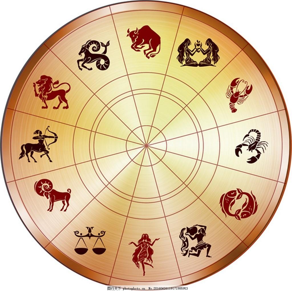 12生肖转盘矢量图 动物 12生肖 星座 转盘 矢量图