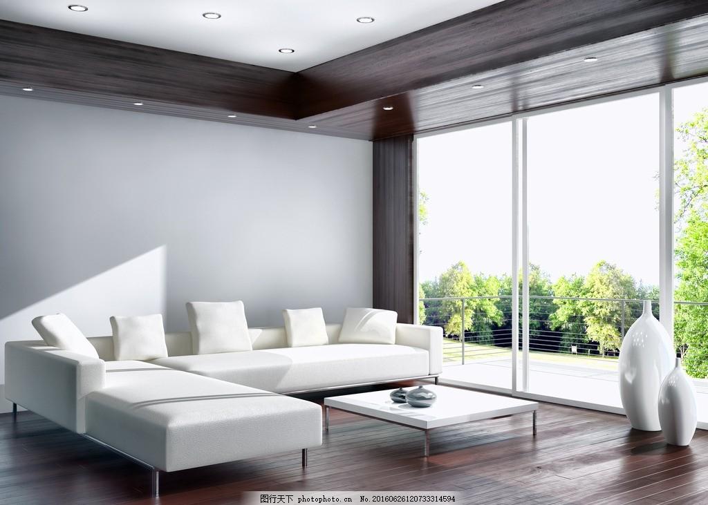 唯美客厅 家居 家具 简洁 欧式 浪漫 白色系 白沙发 木地板