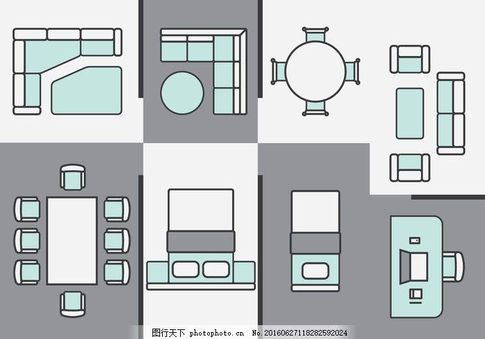 公寓 建筑师 建筑 结构 背景 床      蓝图 业务 椅子 采集 色彩 设计