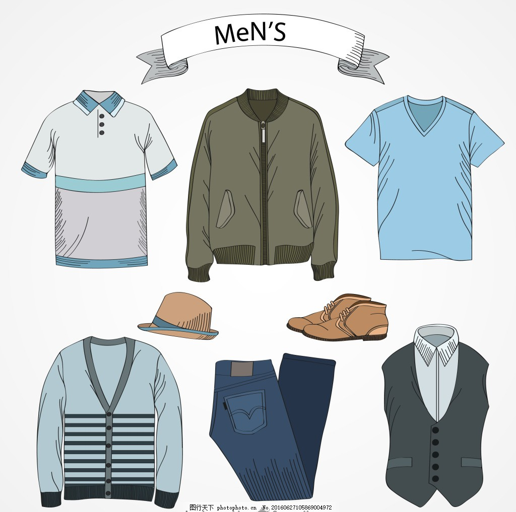 男士服装设计 男士 服装 t恤 夹克 时尚