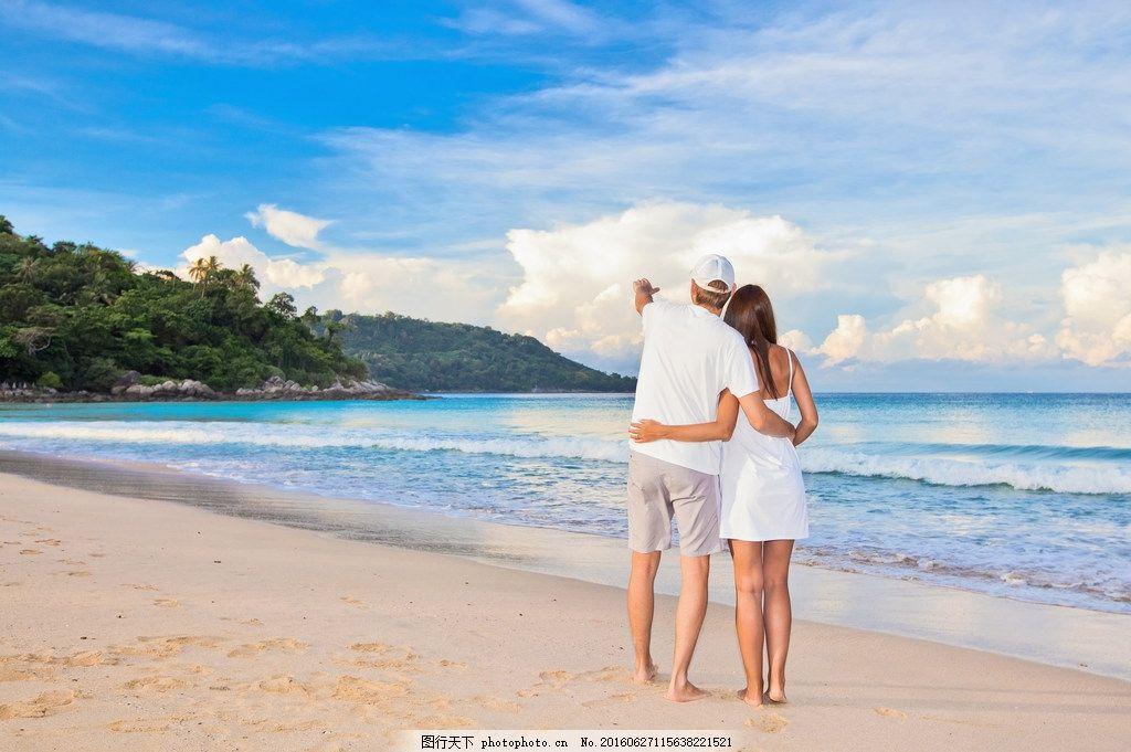 唯美海边浪漫情侣图片