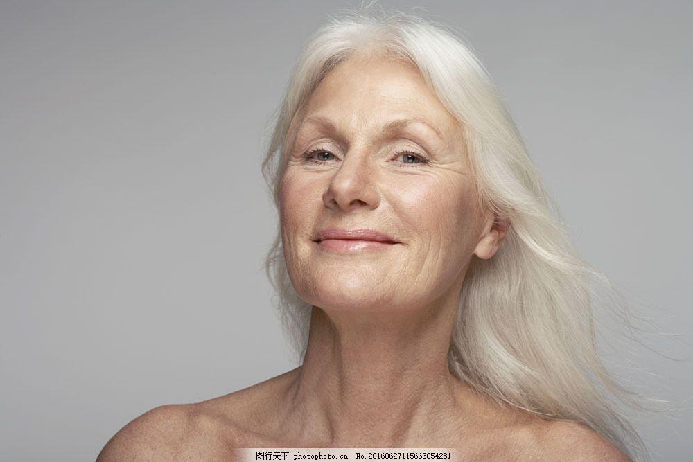 满头白发的老奶奶特写 满头白发的老奶奶特写图片素材 外国人 老太太