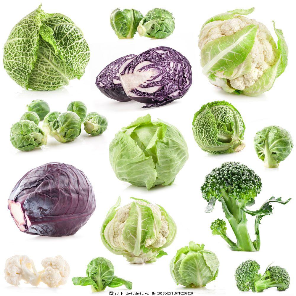 西兰花与蔬菜 西兰花与蔬菜图片素材 菜花 紫色橄榄 餐饮美食