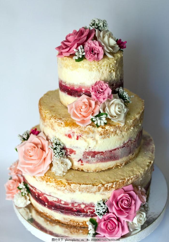 玫瑰花蛋糕摄影图片图片