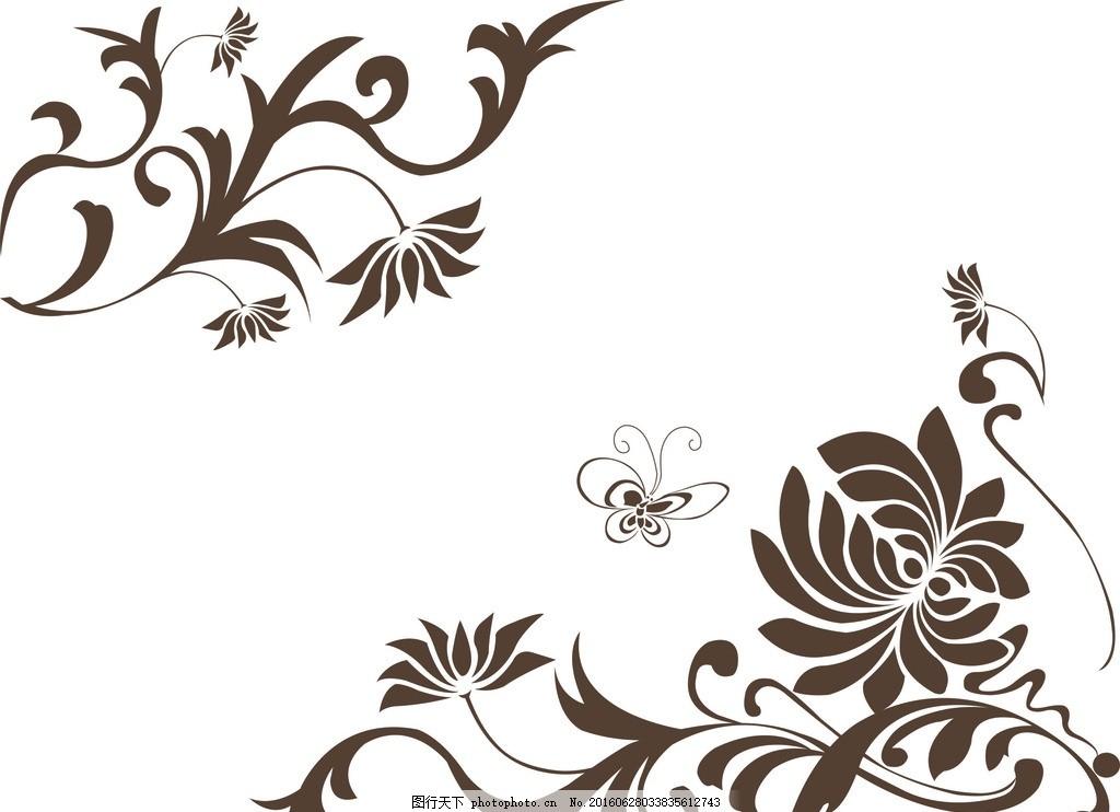 角花01 硅藻泥图案 硅藻泥素材 硅藻泥 硅藻泥角花 角花 对角花 设计