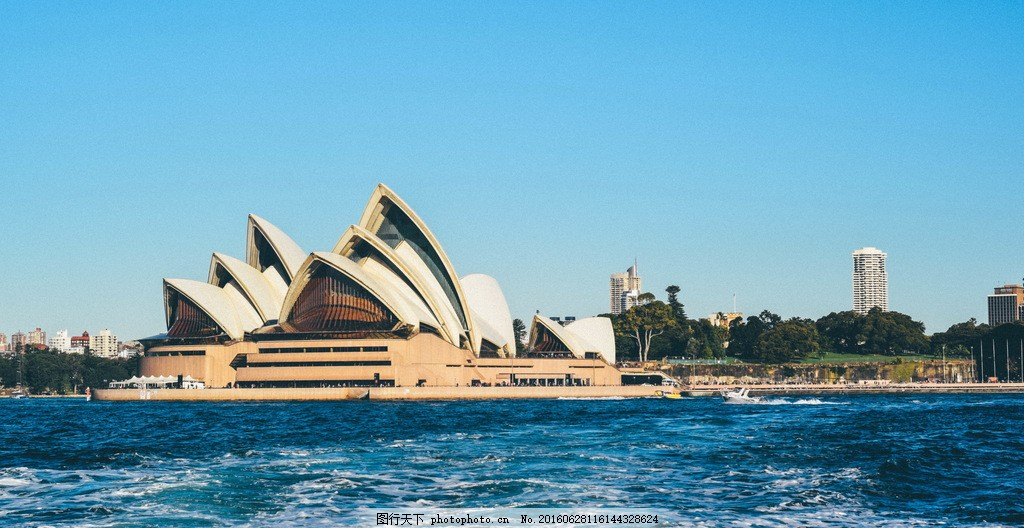 美丽的悉尼歌剧院建筑风景图片