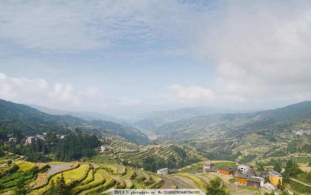 梯田 绿色 黎平肇兴 摄影 自然景观 摄影 自然景观 山水风景 300dpi