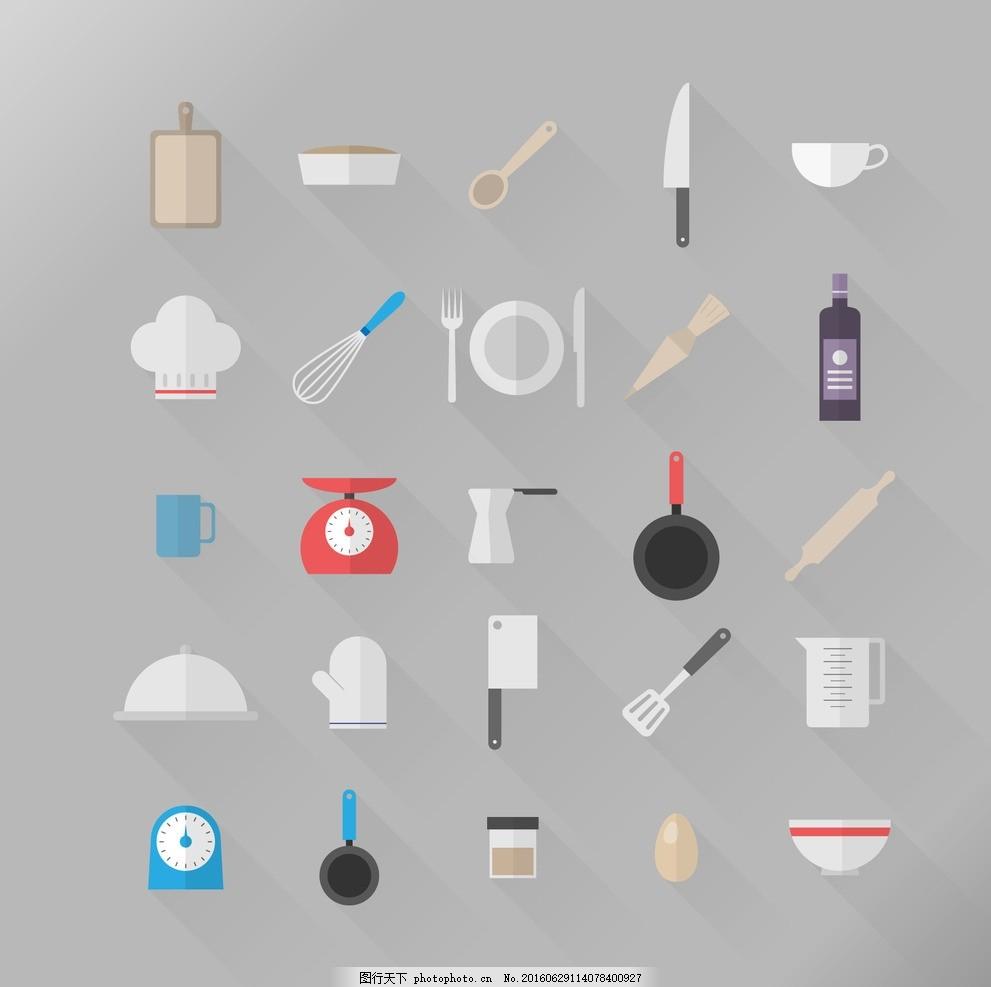 厨房的图标 餐具 厨师 刀 滚动 烹饪 标志图标 其他图标