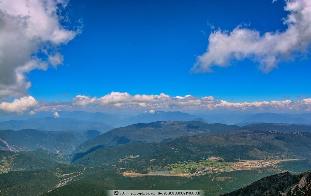 玉龙雪山 国内旅游 山水风景 自然景观 蓝天白云 旅游摄影 俯视 眺望