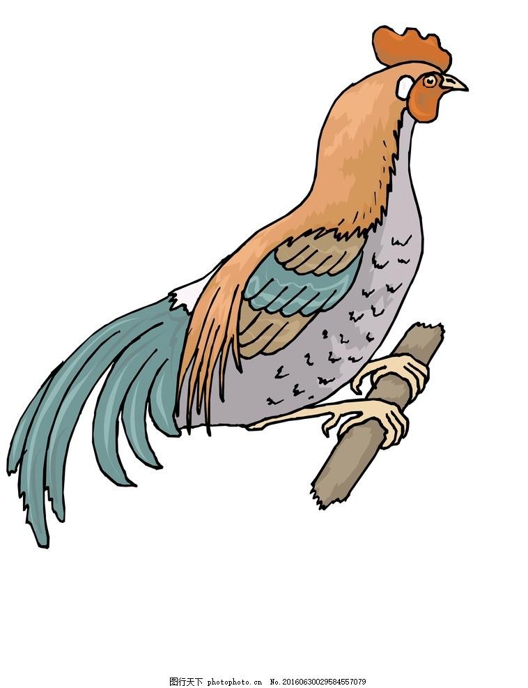 彩色鸡 彩绘公鸡 手绘公鸡 撑腰鸡 可爱公鸡 彩色公鸡 功夫鸡 鸡鸣