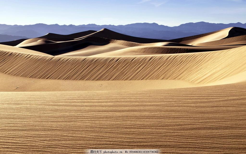 唯美戈壁沙漠风景图片