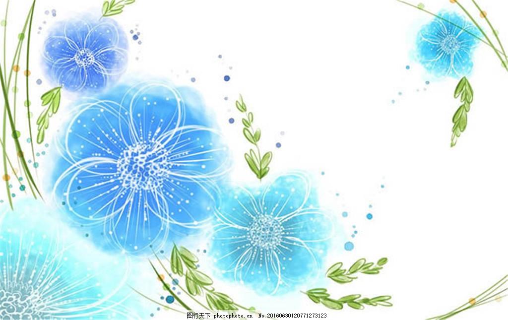 手绘唯美花朵矢量图ai素材 ai 蝴蝶 花朵 花卉 玫瑰花 矢量图 手绘