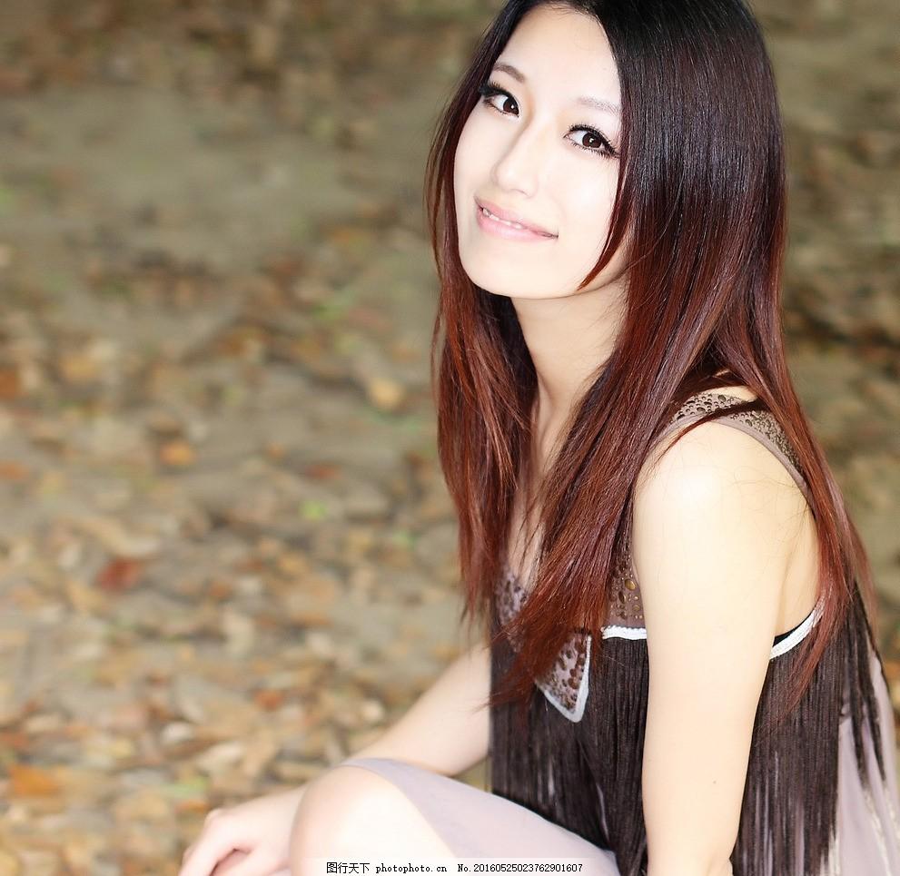微笑美女图片_女性妇女_人物图库-图行天下素材网